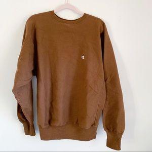 Champion Brown Reverse Weave Oversize Sweatshirt